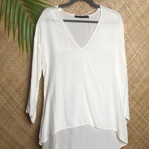 Zara cream long sleeve tunic.